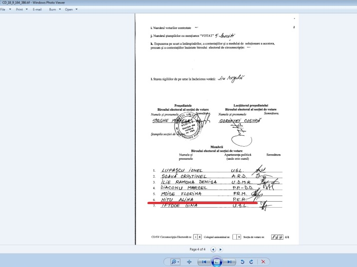 nitu alina 2012 parlamentare membru PER 164